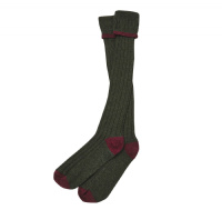Barbour Contrast Gun Stockings -Olive/Cranberry - MSO0003OL53